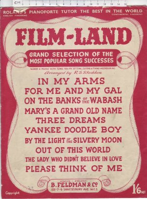 Film-Land - Old Sheet Music by Feldman