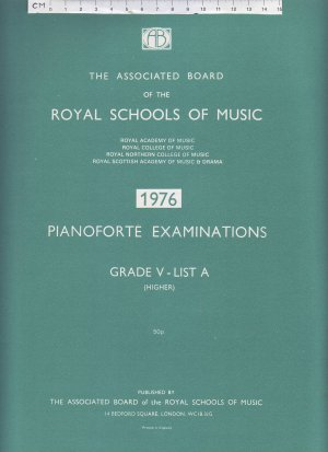 Pianoforte Examinations 1976 - Old Sheet Music by The Associated Board of the Royal Schools of Music