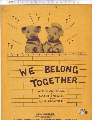 We Belong Together - Old Sheet Music by Campbell Connelly