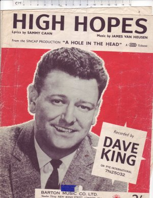 High hopes - Old Sheet Music by Barton