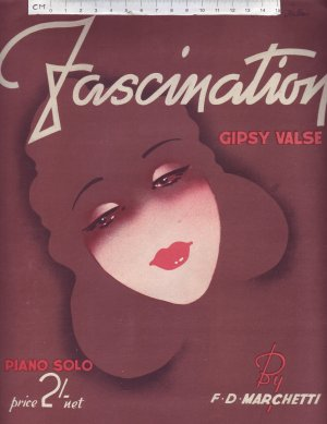 Fascination Gypsy Valse - Old Sheet Music by J. Liber Ltd