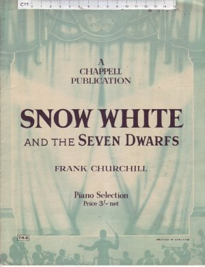 Snow White and the Seven Dwarfs - Old Sheet Music by Chappell