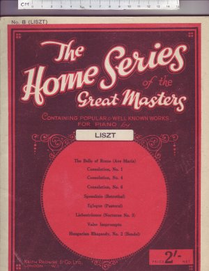 The Home Series of the Great Masters - Old Sheet Music by Keith Prowse & Co Ltd.