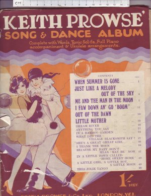 Keith Prowse' Song & Dance Album - Old Sheet Music by Keith Prowse & Co Ltd.