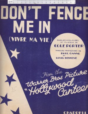 Don't fence me in - Old Sheet Music by Chappell
