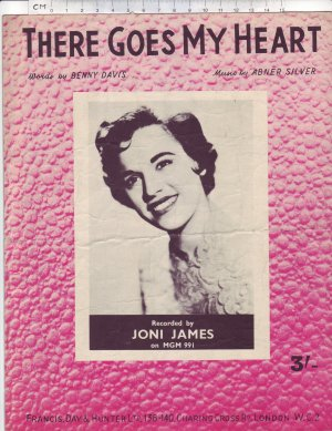 There goes my heart - Old Sheet Music by Francis Day & Hunter