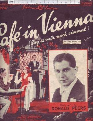 Cafe in Vienna - Old Sheet Music by Feldman