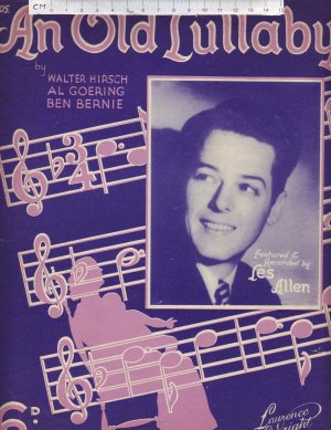 An Old Lullaby - Old Sheet Music by Lawrence Wright