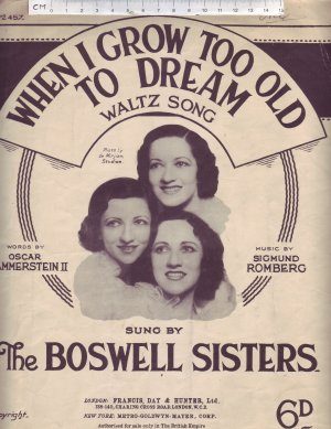 When I grow too old to dream - Old Sheet Music by Francis Day & Hunter Ltd