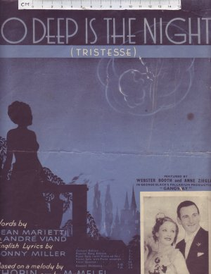 So Deep Is The Night - Old Sheet Music by Keith Prowse & Co Ltd.