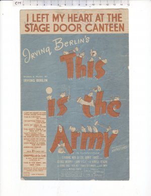 I left my heart at the stage door canteen - Old Sheet Music by Chappell