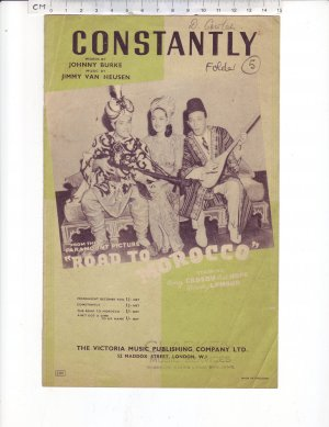 Constantly - Old Sheet Music by The Victoria Music Publishing Company Ltd.