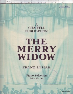 The Merry Widow - Old Sheet Music by Chappell