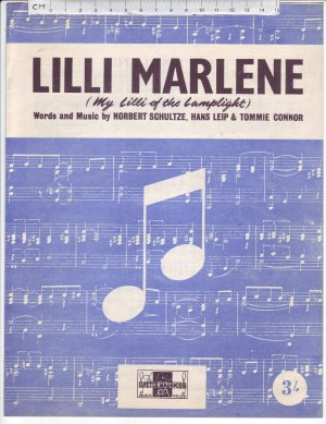 Lilli Marlene - Old Sheet Music by Peter Maurice