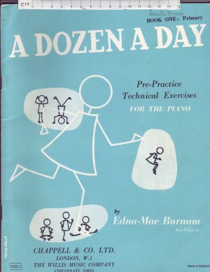 A Dozen a Day. - Old Sheet Music by Chappell