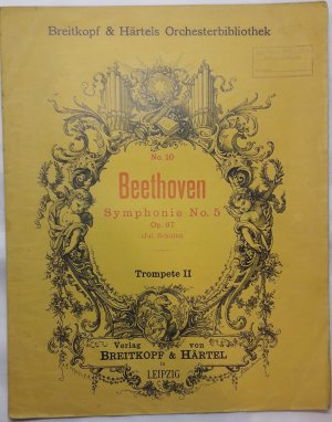 Symphonie No. 5 - Old Sheet Music by Breitkpf & Hartels