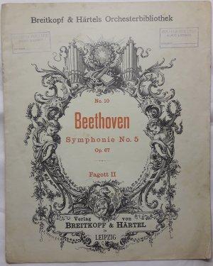 Symphonie No. 5 - Old Sheet Music by Breitkpf & Hartels