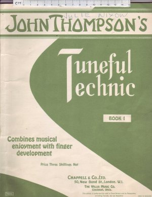Tuneful Technic - Old Sheet Music by Chappell