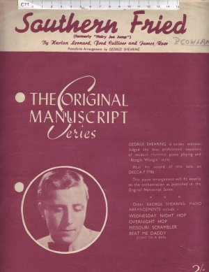 Southern Fried - Old Sheet Music by Peter Maurice