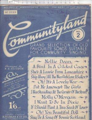 Communityland - Old Sheet Music by Feldman