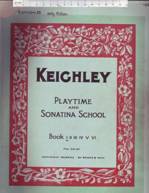 Playtime and Sonata School, book 1 - Old Sheet Music by Banks & Son