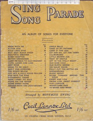 Sing Song Parade - Old Sheet Music by Cecil Lennox