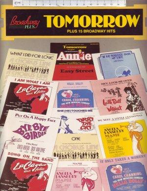 Broadway Plus, Tomorrow plus 15 Broadway hits. - Old Sheet Music by MPL