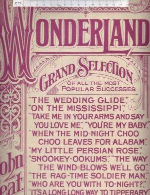 Wonderland Grand Selection. - Old Sheet Music by Feldman