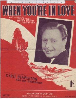 When you're in love - Old Sheet Music by Bradbury Wood Ltd