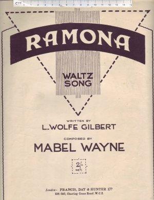 Ramona - Old Sheet Music by Francis Day & Hunter