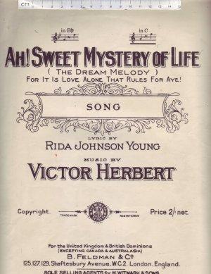 Ah sweet mystery of life - Old Sheet Music by Feldman