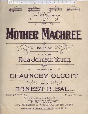 Mother Machree - Old Sheet Music by Feldman