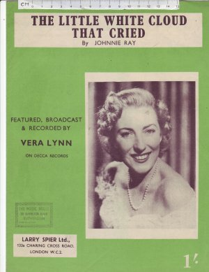 The little white cloud that cried - Old Sheet Music by Larry Spier