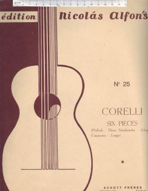 Edition No.25 - Old Sheet Music by Schott Freres