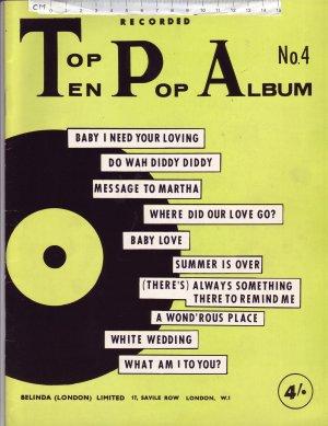 Top Ten Pop Album No.4 - Old Sheet Music by Belinda