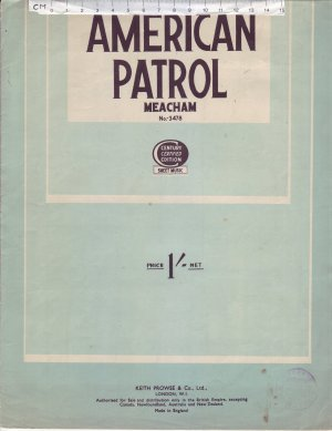 American patrol - Old Sheet Music by Keith Prowse