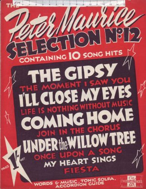 Peter Maurice Selection No. 12 - Old Sheet Music by Peter Maurice