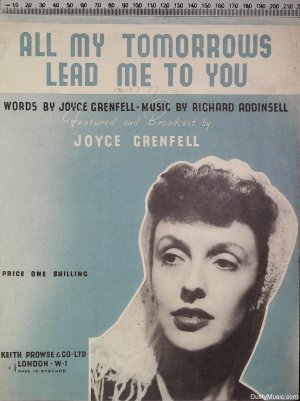 All my tomorrows lead me to you - Old Sheet Music by Keith Prowse & Co Ltd